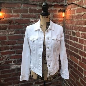 White Jean Jacket by Old Navy
